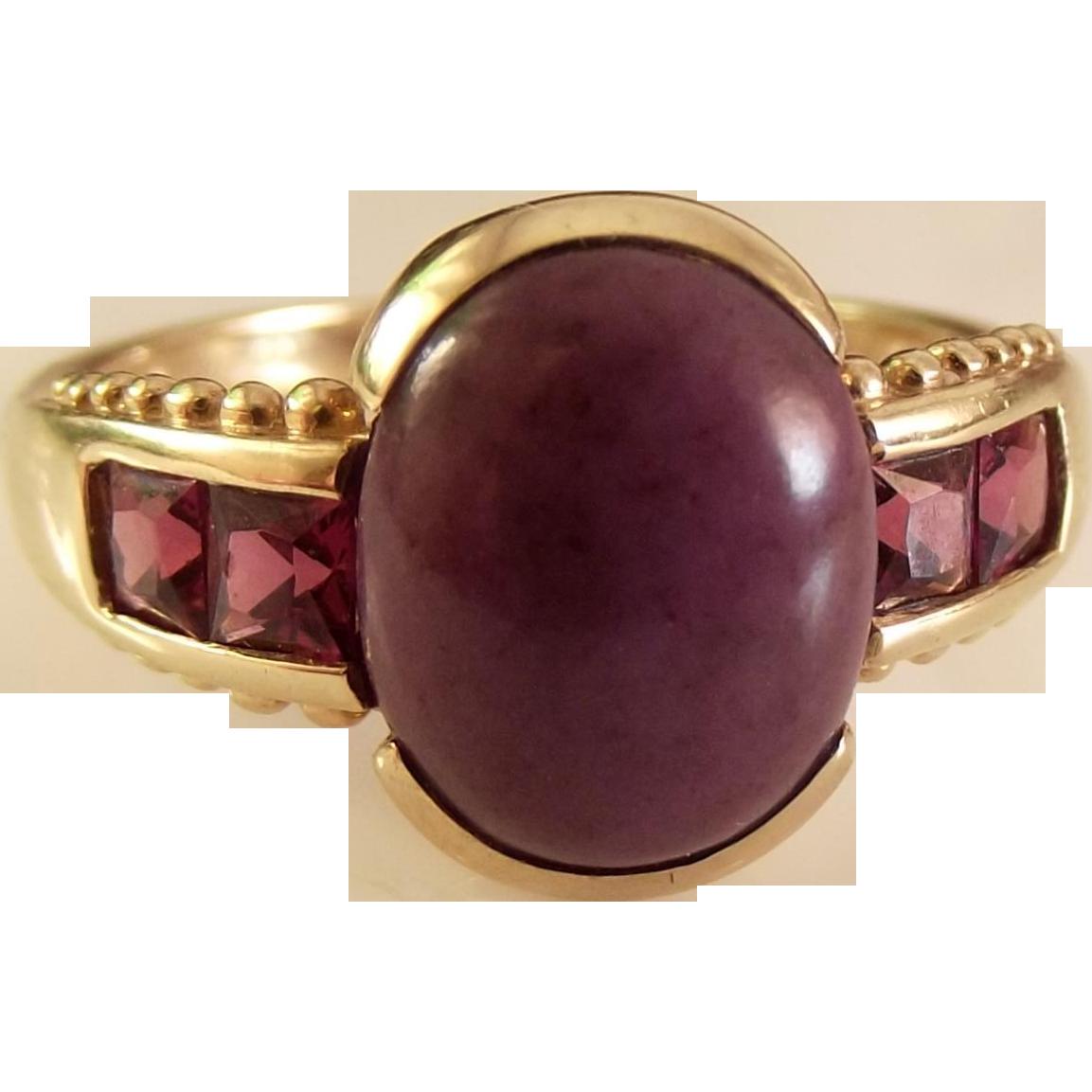 50% OFF  Fine Amethyst 9k gold ring