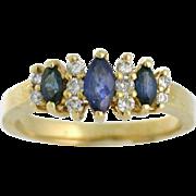 Sapphire and Diamond 14k Ring