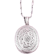 Vintage Sterling Silver Locket with chain