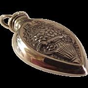 Sterling Repousse chatelaine Pendant Perfume bottle
