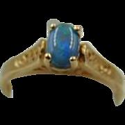 40% OFF  Opal Ring 14k Gold | Vintage 14k Gold Opal Ring
