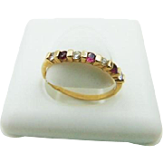 45% OFF 14k Diamond Ruby Band Ring