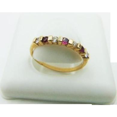 45% OFF 14k Diamond Ruby Band Ring