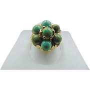 Beautiful 14K Turquoise Vintage Ring