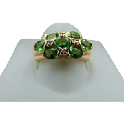 30% OFF 14K Peridot /Diamond Ring