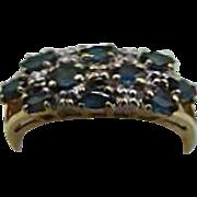 14k Gold Sapphire Diamond ring