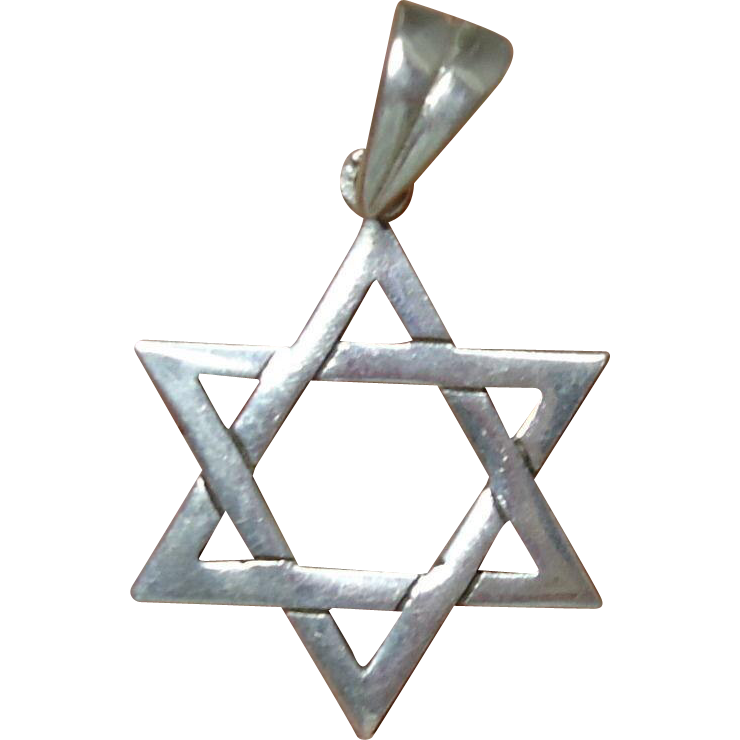 39 % OFF Vintage Sterling Silver Jewish Star Of David Pendant