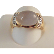 50% OFF  14K Moonstone Diamond Ring
