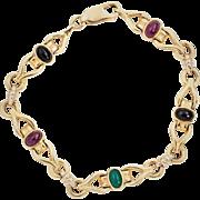 55% OFF  14k Ruby Emerald Sapphire Bracelet