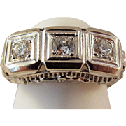 68% Off 14k Art Deco 75 ctw Diamond Filigree Ring
