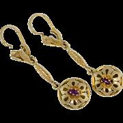 """65% Off 18k Art Nouveau 2"""" drop dangle Earrings"""