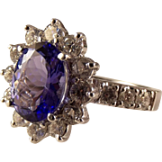 Appraised 11500 14K Tanzanite Diamond Ring