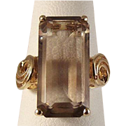 45% OFF 14k Smokey Quartz Ring