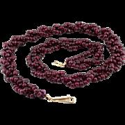 60% OFF Art Deco 14k Almandine Garnet Necklace