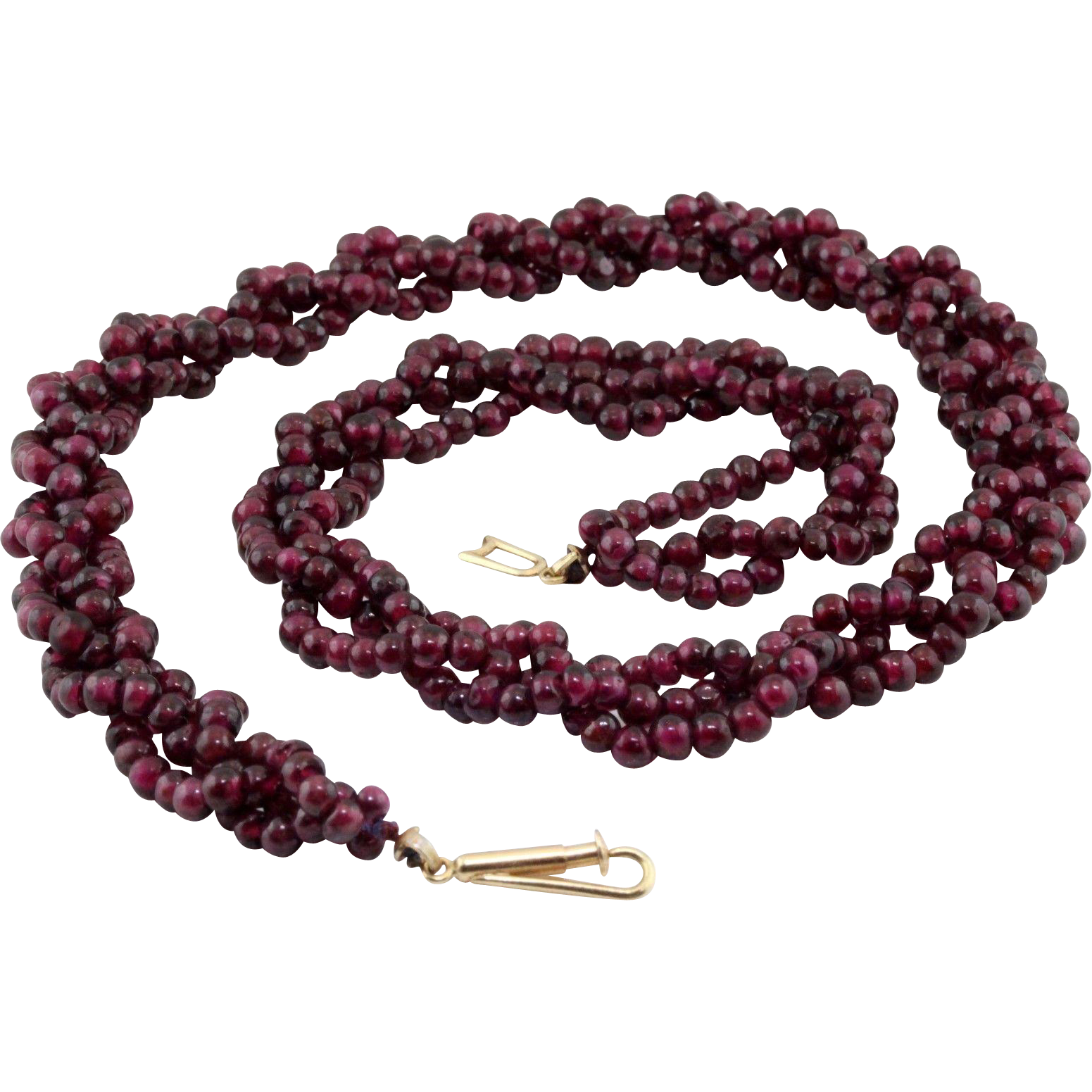 60% OFF Art Deco 14k Almandine Garnet Necklace