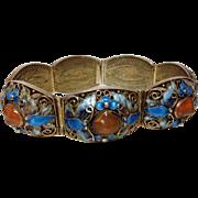 56% OFF Chinese Export Enamel Carnelian  Bracelet