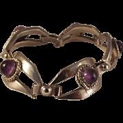 66% OFF Sterling/ Amethyst Cabochon Bracelet