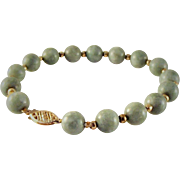 65% OFF 14K Jade Jadeite Beaded Bracelet