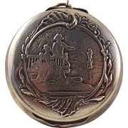 60% OFF French 800-900 silver Art Nouveau compact pendant