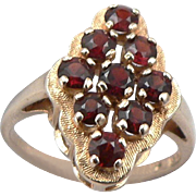 45% OFF 14k Vintage Garnet Cocktail Ring