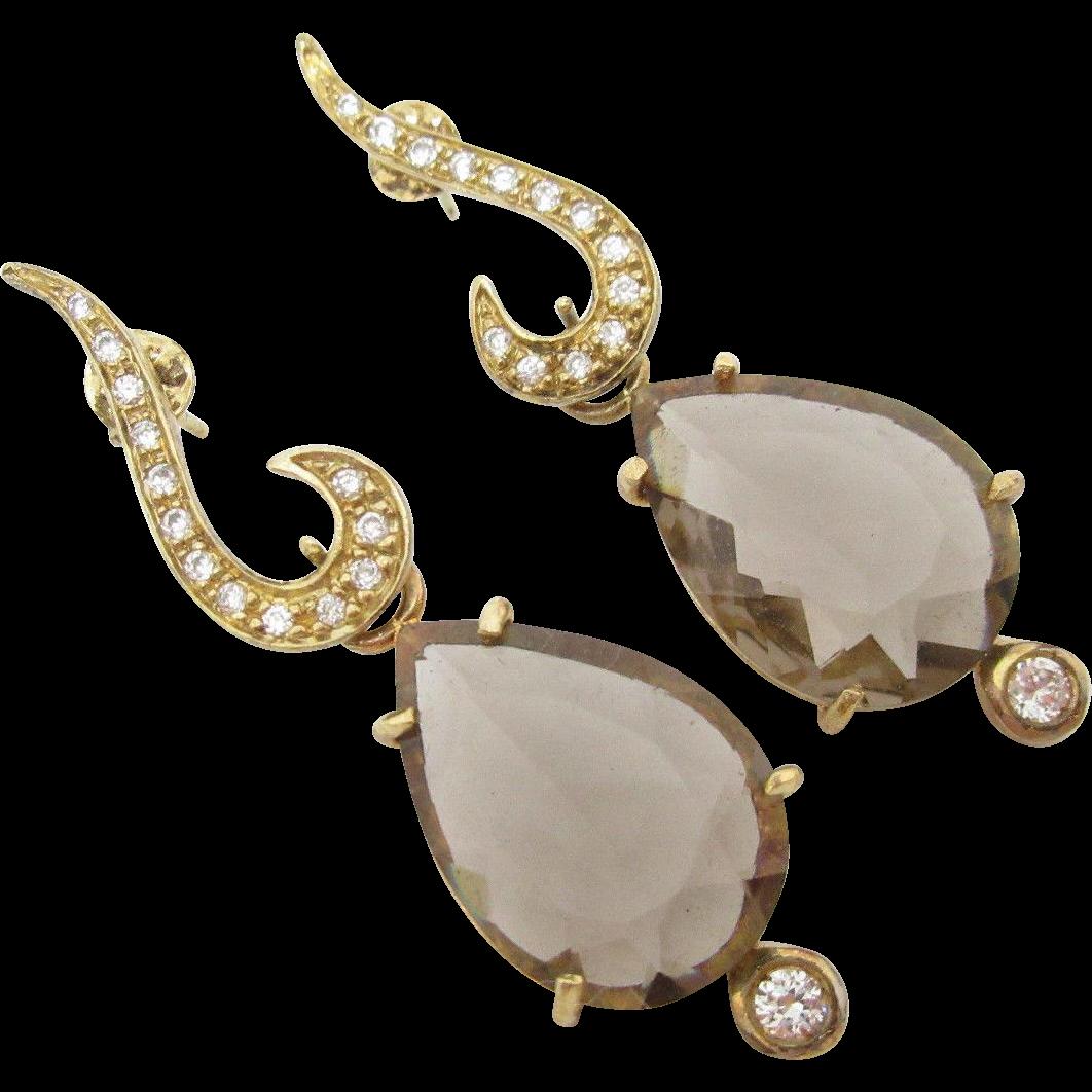 35% OFF Champagne Glass Rhinestone Dangle Drop Pierced Earrings