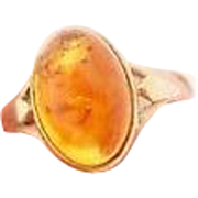 25% OFF 9ct Baltic Amber Vintage Ring