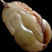 60% OFF 14k Jadeite Jade Lucky calabash Pendant
