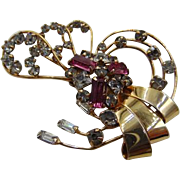 55% OFF  Retro 12k GF Rhinestone  Brooch