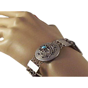 25% OFF 1920's Austrian Silver Turquoise Bracelet