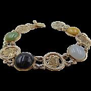 50% OFF Sterling silver Jade jadeite Cabochon Bracelet