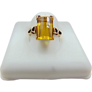 40% OFF Art Deco 14k Step Cut Citrine Ring