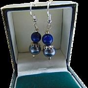 Swarovski Pearl lapis lazuli drop earrings