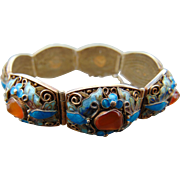 45% OFF Chinese Export Enamel Carnelian Bracelet