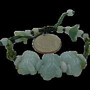 Vintage Carved Jade Pig Bracelet