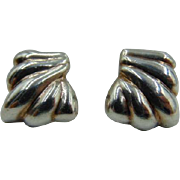 Melecio Rodriguez Taxco Sterling Silver clip on earrings