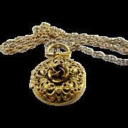 Vintage gold tone Rose Locket