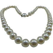 "50% OFF Vintage Faux Pearl Strand Necklace 22"" Highly Reflective"