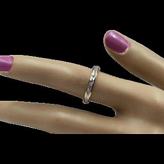 14K  Diamond Stacking Ring - Size 6 3/4