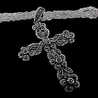 Sterling silver Marcasite Cross