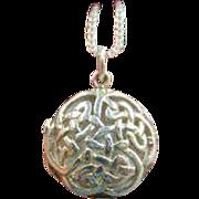 Sterling Silver Celtic Knot Locket
