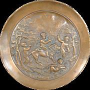 Antique Copper Tazza Centerpiece Dish Bacchic Children and Cupid (#10-11)