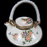 Japanese Satsuma Shimazu Shuzan Miniature Floral Teapot