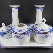 Porcelain Union K Czechoslovakian Floral Porcelain Dresser Set