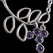 Silver Amethyst Artisan Pendant