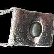 Chrysoberyl cats eye - Silver Chrysoberyl Pendant - Natural Cats Eye - 1.1 carat