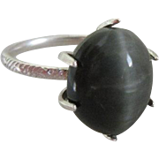 Large Cats Eye ring - Natural Quartz Cats eye Ring - Made to your size