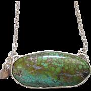 Artisan Silver Turquoise Collar