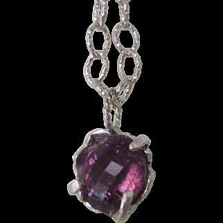 Silver Amethyst Boho pendant