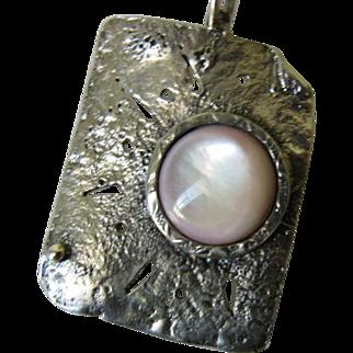 Rose Shell Silver Pendant - Handmade jewelry
