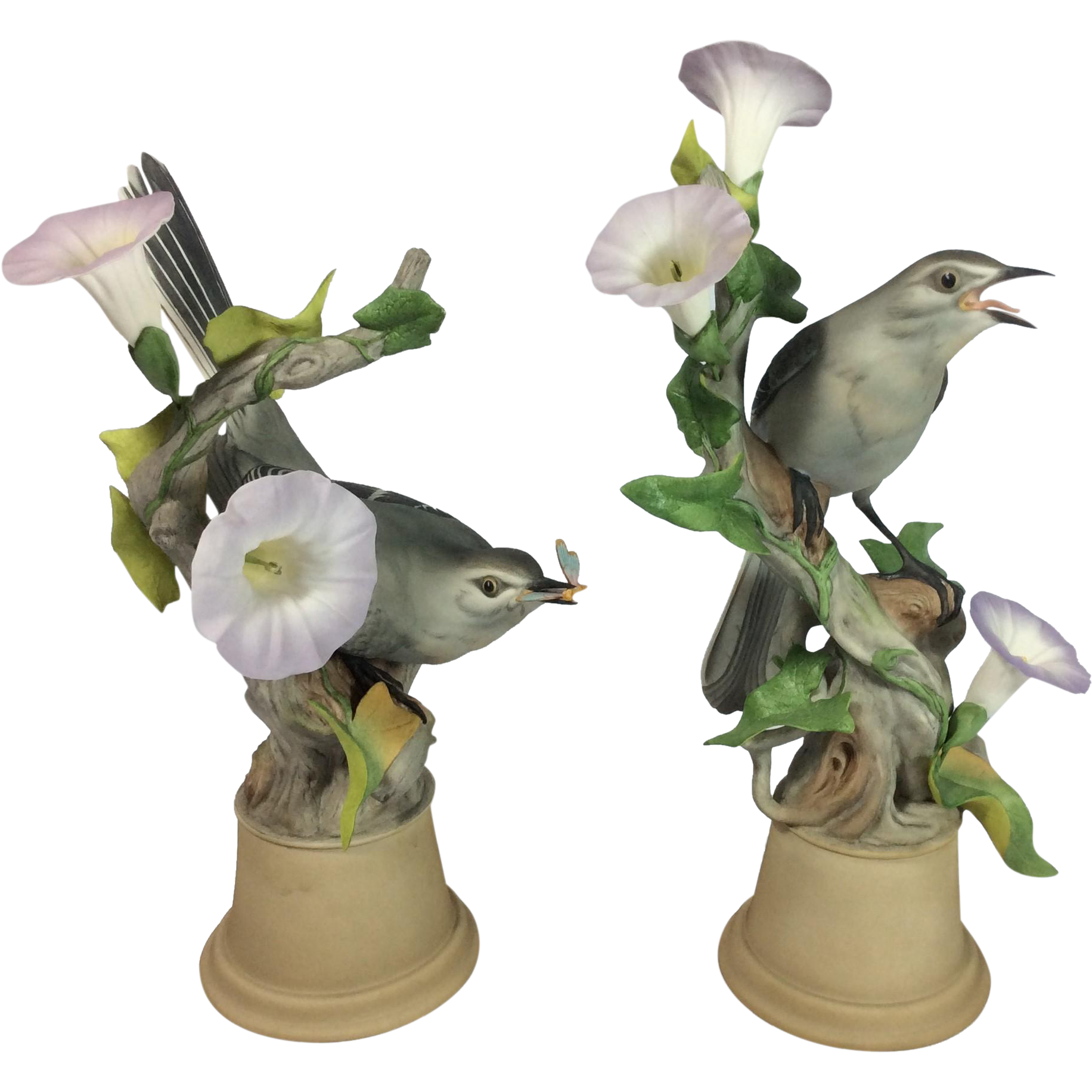 Pair of Limited Edition Boehm Male/Female Mockingbirds; #459